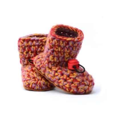 Aina Wool Baby Booties 0 – 12 mths