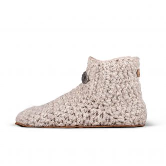 Beige Wool Slippers