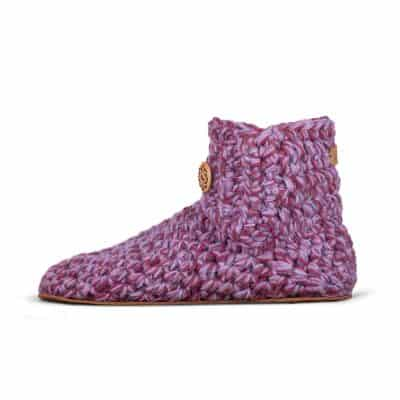 Lavender High Top Wool Slippers for Women