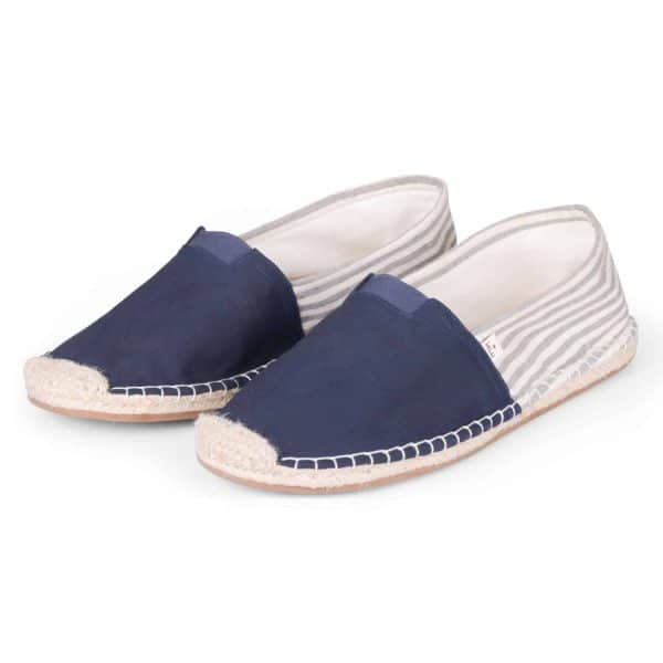 ExtraFit Marine Espadrilles for Men Navy Blue Striped