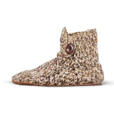 Camo High Top Wool Slippers for Men