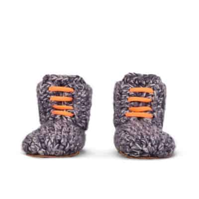 Storm Orange Wool Slippers for Kids 1 – 3 yrs old