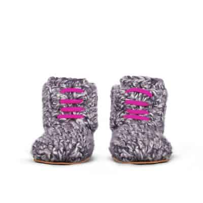 Storm Pink Wool Slippers for Kids 1 – 3 yrs old