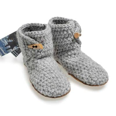 Exclusive Floris x KOW! Bamboo Wool Slippers in Soft Grey for Women