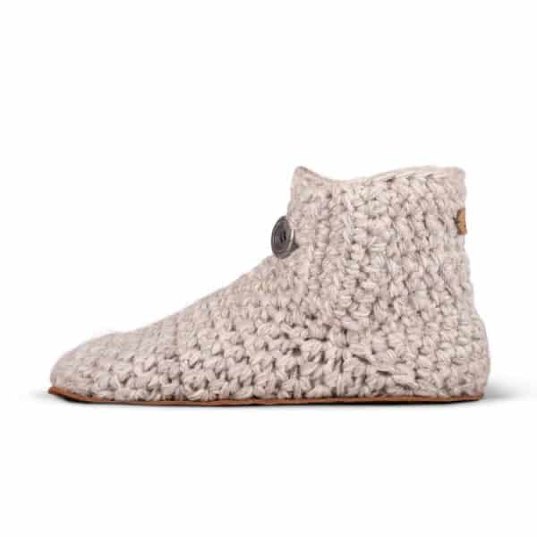 Chai Grey Wool Slippers for Women