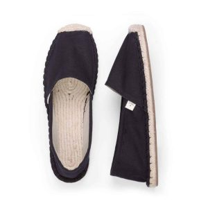 Classic Jet Black Espadrilles for Men