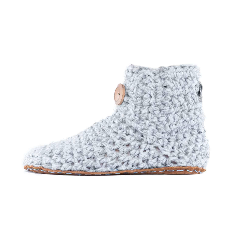 Floris van Bommel x KOW Bamboo Wool Slippers   Soft Grey
